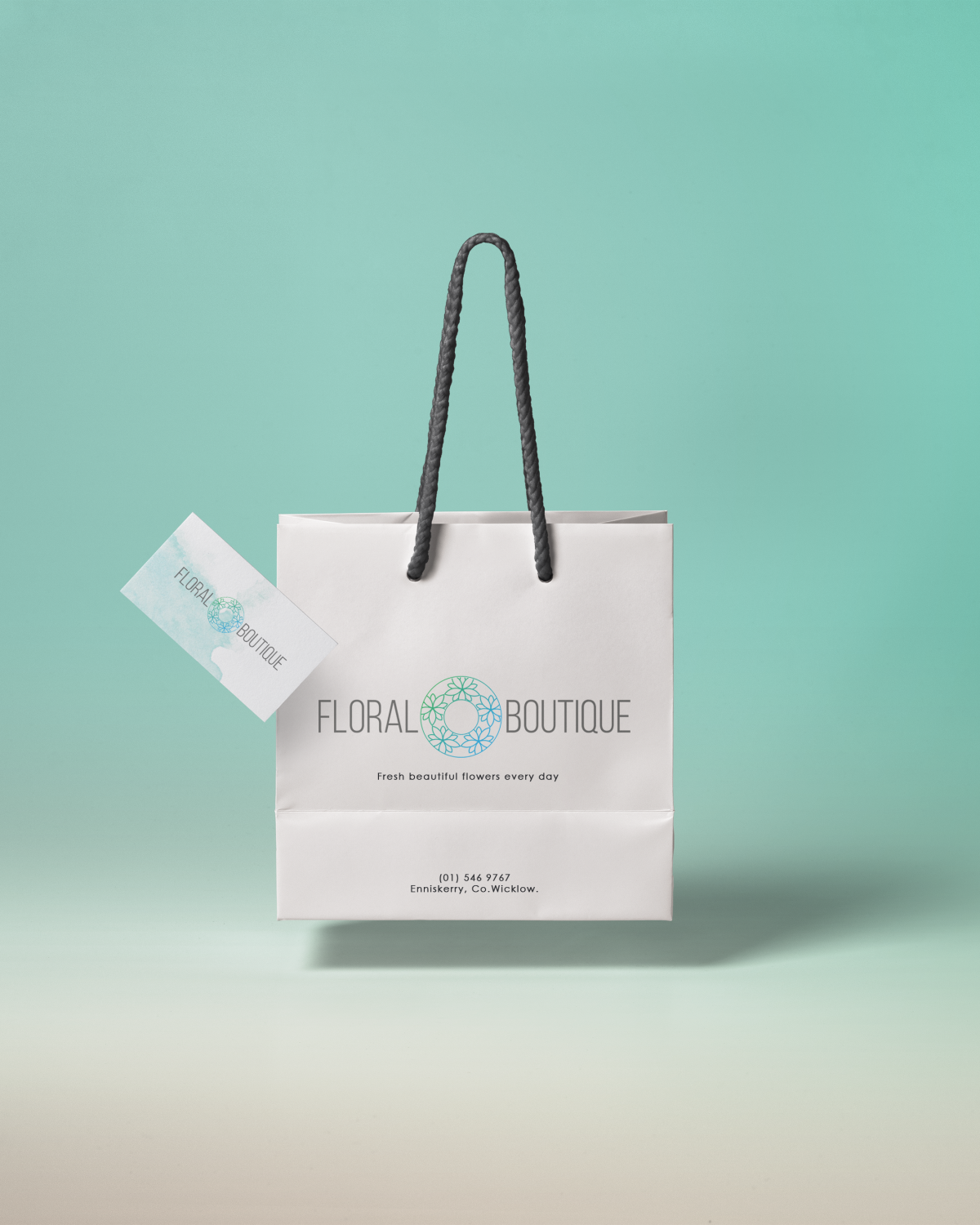 Floral Boutique paper bag